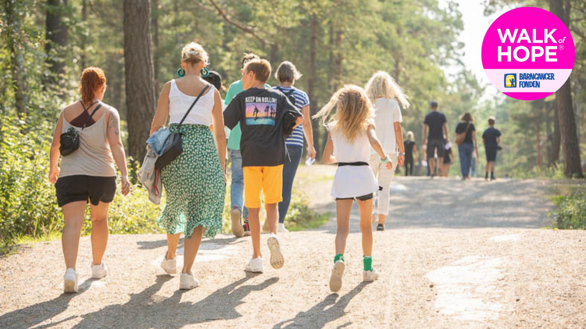 Barncancerfondens virtuella Walk of Hope 2021