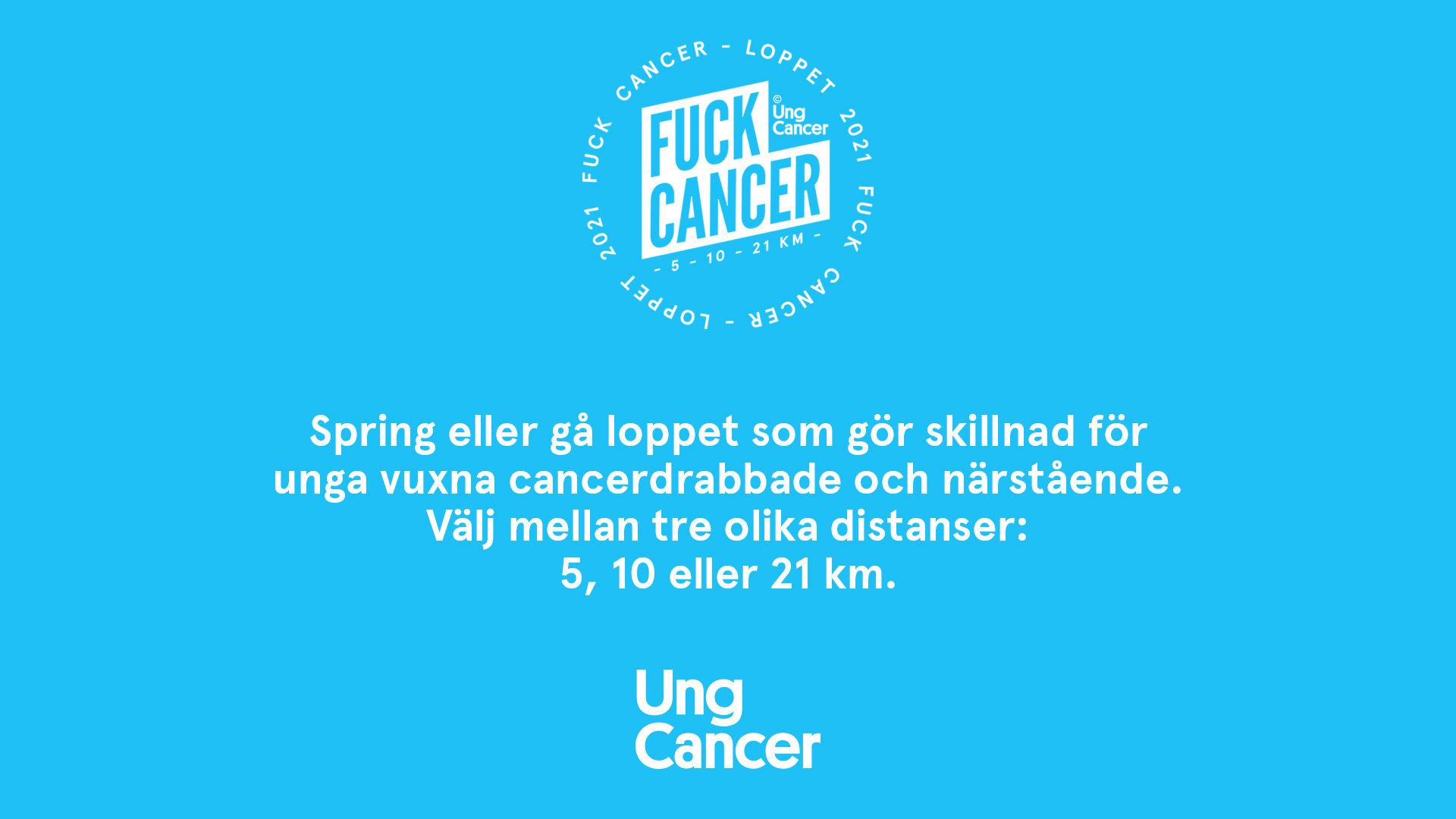 Fuck Cancer-loppet 2021 - 10 KM
