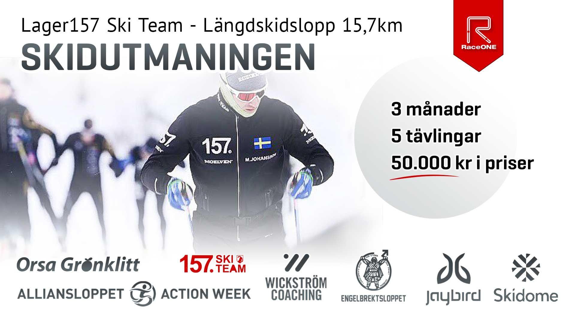 Lager157 Ski Team Längdskidslopp 15,7 km